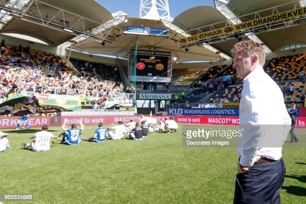 coach Alfons Groenendijk of ADO Den Haag during the Dutch Eredivisie match between Roda JC v ADO Den Haag at the Parkstad Limburg Stadium on May 6...