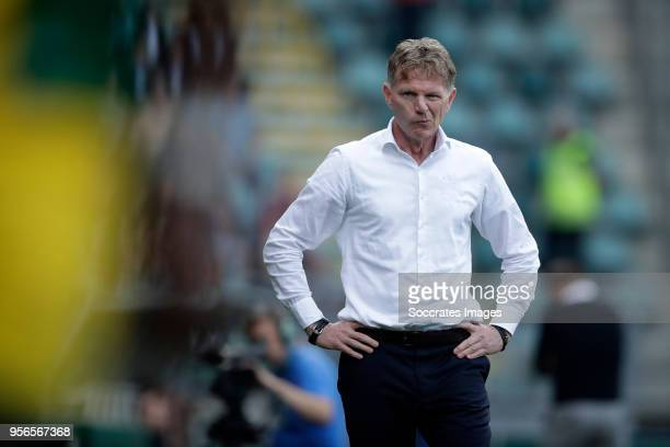 coach Alfons Groenendijk of ADO Den Haag during the Dutch Eredivisie match between Vitesse v ADO Den Haag at the GelreDome on May 12 2018 in Arnhem...