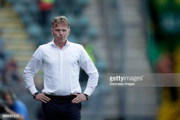 coach Alfons Groenendijk of ADO Den Haag during the Dutch Eredivisie match between Vitesse v ADO Den Haag at the GelreDome on May 12 2018 in Arnhem...
