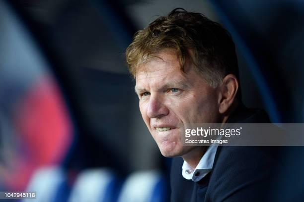 coach Alfons Groenendijk of ADO Den Haag during the Dutch Keuken Kampioen Divisie match between Ajax U23 v FC Eindhoven at the De Toekomst on...