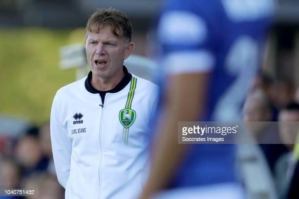 coach Alfons Groenendijk of ADO Den Haag during the Dutch KNVB Beker match between OJC Rosmalen v ADO Den Haag on September 26 2018