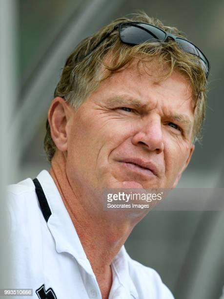 coach Alfons Groenendijk of ADO Den Haag during the match between Scheveningen v ADO Den Haag at the Sportpark Houtrust on July 7 2018 in...