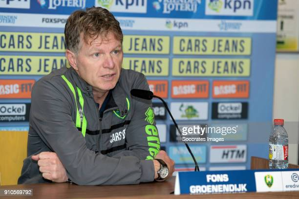 coach Alfons Groenendijk of ADO Den Haag during the Training ADO Den Haag at the Cars Jeans Stadium on January 26 2018 in Den Haag Netherlands