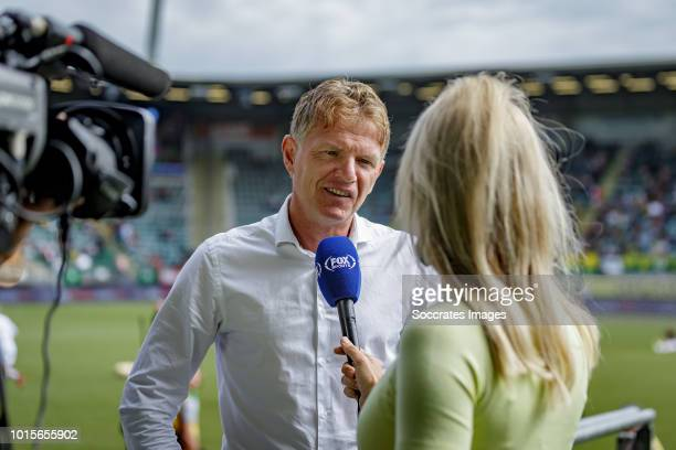 coach Alfons Groenendijk of ADO Den Haag foxsports during the Dutch Eredivisie match between ADO Den Haag v FC Emmen at the Cars Jeans Stadium on...