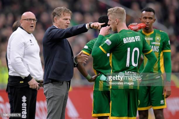 coach Alfons Groenendijk of ADO Den Haag Lex Immers of ADO Den Haag during the Dutch Eredivisie match between Ajax v ADO Den Haag at the Johan...