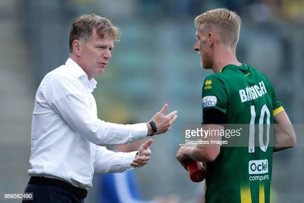 coach Alfons Groenendijk of ADO Den Haag Lex Immers of ADO Den Haag during the Dutch Eredivisie match between Vitesse v ADO Den Haag at the GelreDome...