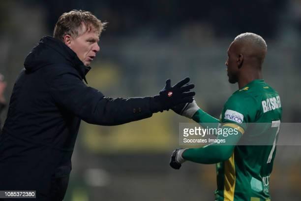 coach Alfons Groenendijk of ADO Den Haag Sheraldo Becker of ADO Den Haag during the Dutch Eredivisie match between ADO Den Haag v VVVVenlo at the...
