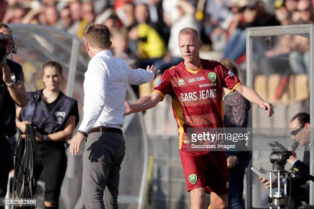 coach Alfons Groenendijk of ADO Den Haag Tom Beugelsdijk of ADO Den Haag during the Dutch Eredivisie match between VVVvVenlo ADO Den Haag at the...