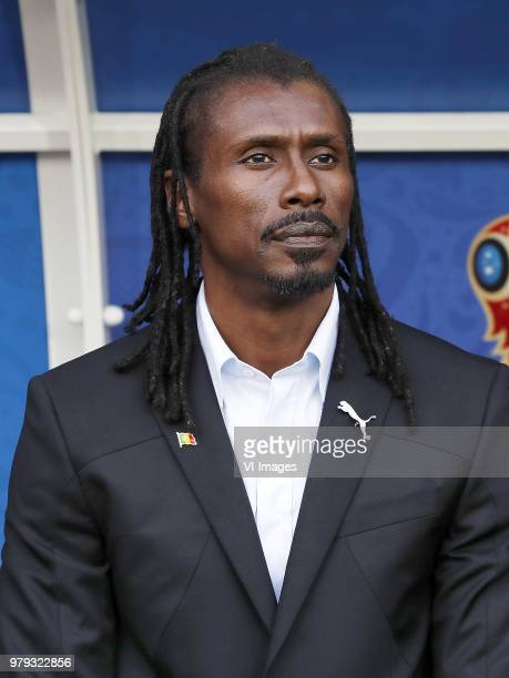 coach Aliou Cisse of Senegal during the 2018 FIFA World Cup Russia group H match between Poland and Senegal at the Otkrytiye Arena on June 19 2018 in...