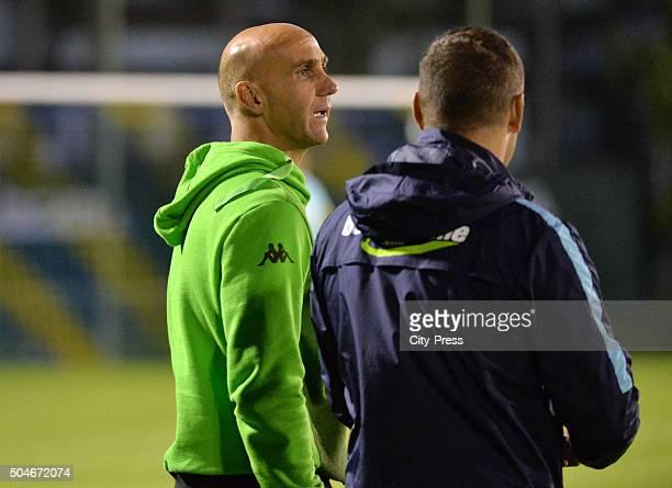 Coach Andre Schubert of Borussia Moenchengladbach and coach Andre Schubert of Borussia Moenchengladbach during the test match between Borussia...