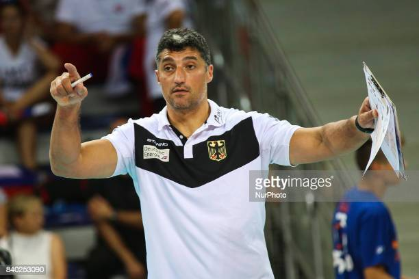 Coach Andrea Giani during Volleyball European Championships match between Slovakia and Germany in Szczecin Poland on 28 August 2017