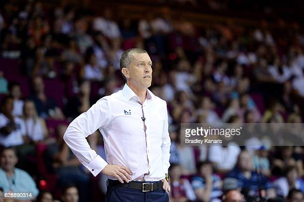 Coach Andrej Lemanis of the Bullets watches on during the round 10 NBL match between the Brisbane Bullets and the Illawarra Hawks at the Brisbane...