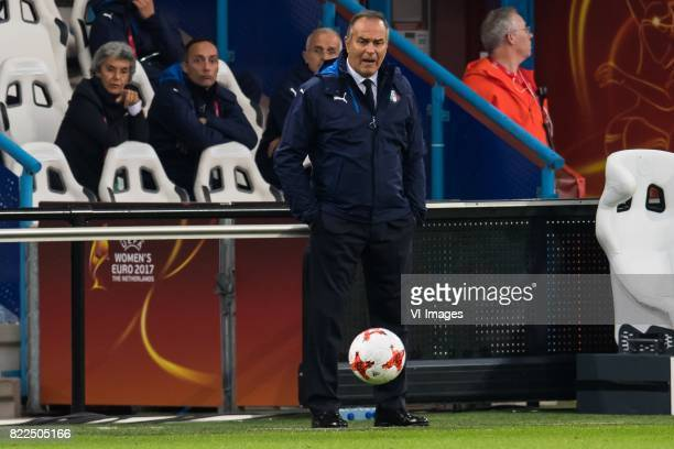 coach Antonio Cabrini of Italy Women during the UEFA WEURO 2017 Group B group stage match between Sweden and Italy at the Vijverberg stadium on July...