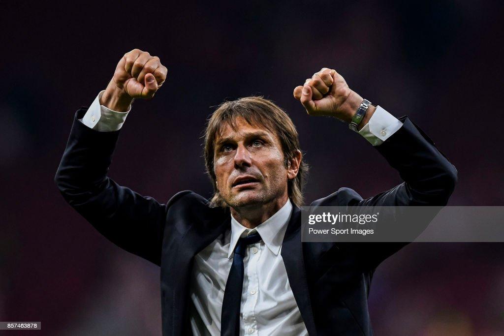 UEFA Champions League 2017-18  - Atletico de Madrid vs Chelsea FC : News Photo
