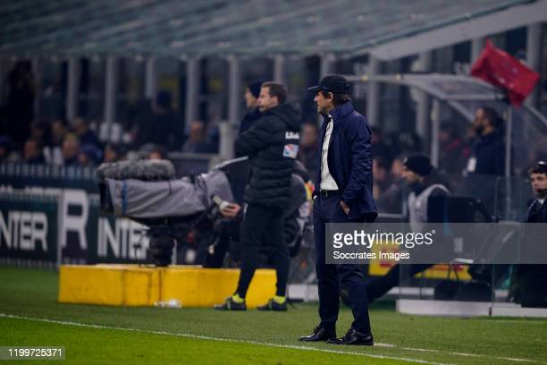 Coach Antonio Conte of FC Internazionale Milano during the Italian Serie A match between Internazionale v AC Milan at the San Siro on February 9 2020...