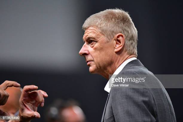 FIFA 98 coach Arsene Wenger during the Legends Game match between France 98 and Fifa 98 at U Arena on June 12 2018 in Nanterre France