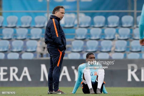 coach Art Langeler of Holland U21 Pablo Rosario of Holland U21 during the Training Holland U21 at the Ciutat Esportiva Dani Jarque on March 25 2018...
