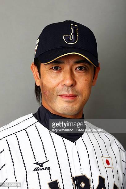 Coach Atsunori Inaba of Samurai Japan poses for photographs during the Samurai Japan Portrait Session on November 8 2014 in Fukuoka Japan