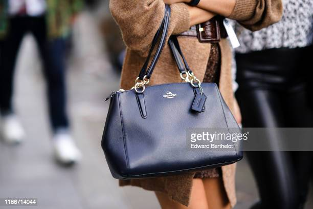 Coach bag is seen, outside Beautiful People, during Paris Fashion Week - Womenswear Spring Summer 2020, on September 30, 2019 in Paris, France.