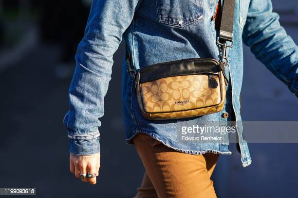 Coach bag is seen, outside MSGM, during Milan Fashion Week Menswear Fall/Winter 2020/2021, on January 12, 2020 in Milan, Italy.