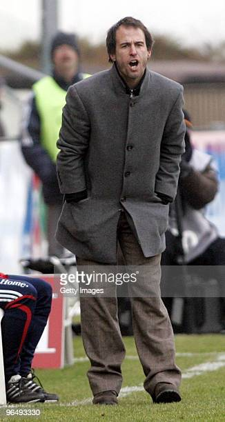 Coach Bayern II Mehmet Scholl during the 3Liga match between SpVgg Unterhaching and Bayern Muenchen II at the Generali Sportpark on January 24 2010...