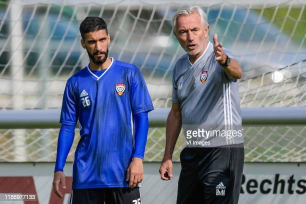 coach Bert van Marwijk of United Arab Emirates give instructions during a training session of United Arab Emirates on July 16 2019 in Pfarrwerfen...