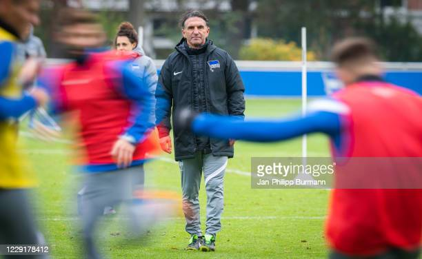 coach Bruno Labbadia of Hertha BSC during the training session on October 20 2020 in Berlin Germany