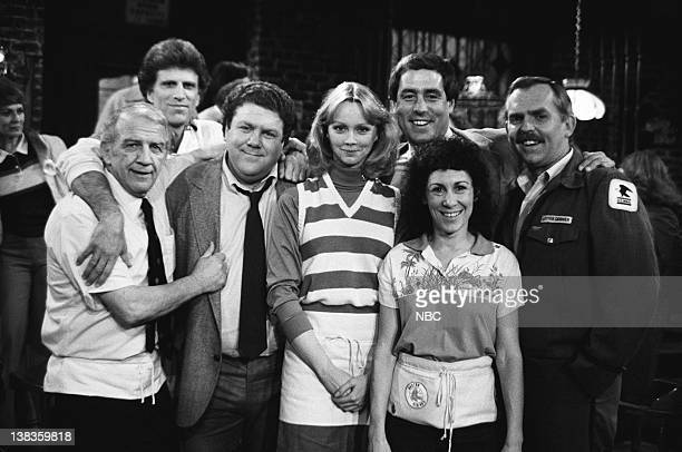 CHEERS 'Coach Buries a Grudge' Episode 19 Air Date Pictured Nicholas Colasanto as Ernie 'Coach' Pantusso Ted Danson as Sam Malone George Wendt as...