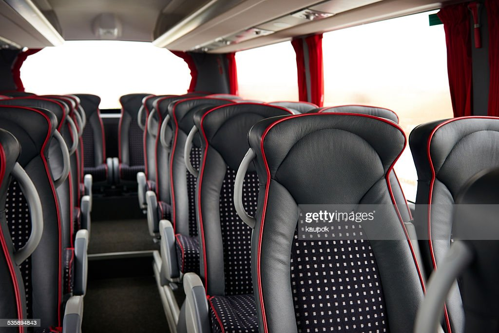 Coach bus interior : Stockfoto