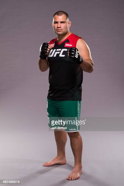 Coach Cain Velasquez poses for a portrait on media day during filming of The Ultimate Fighter Latin America on May 15 2014 in Las Vegas Nevada
