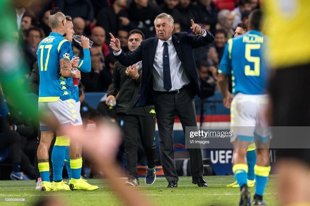 UEFA Champions League'Paris St Germain v SSC Napoli' : News Photo
