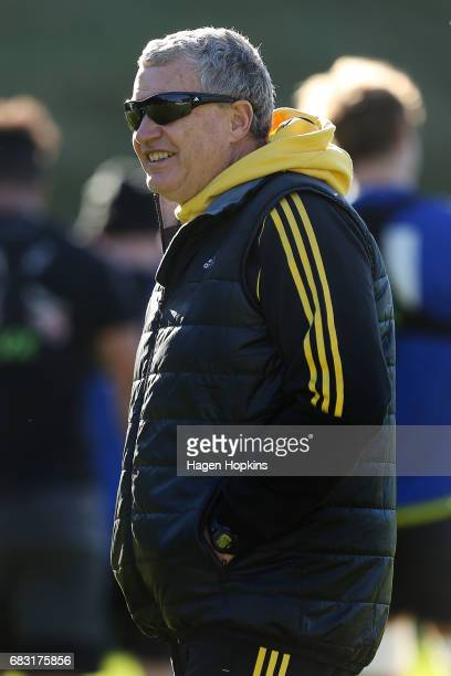Coach Chris Boyd looks on during a Hurricanes training session at Rugby League Park on May 15 2017 in Wellington New Zealand