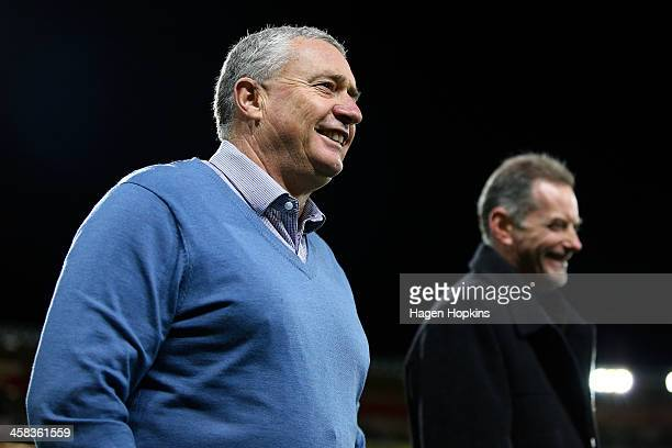 Coach Chris Boyd of the Hurricanes looks on during the round 15 Super Rugby match between the Hurricanes and the Blues at Westpac Stadium on July 2...