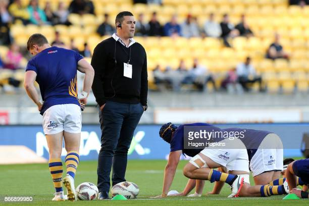 Coach Clayton Macmillan of Bay of Plenty looks on during the Mitre 10 Cup Championship Final match between Wellington and Bay of Plenty at Westpac...
