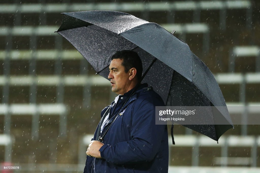Coach Clayton Macmillan of Bay of Plenty looks on during the round five Mitre 10 Cup match between Taranaki and Bay of Plenty at Yarrow Stadium on September 15, 2017 in New Plymouth, New Zealand.