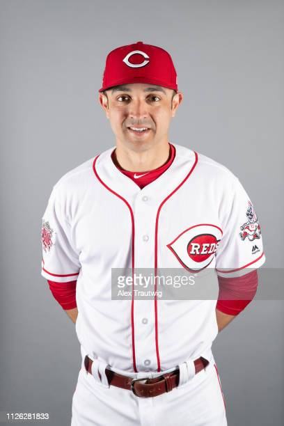 Coach Cristian Perez of the Cincinnati Reds poses during Photo Day on Tuesday February 19 2019 at Goodyear Ballpark in Goodyear Arizona