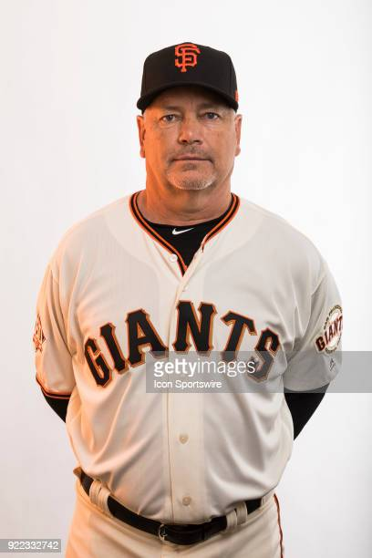 Coach Curt Young poses for a photo during the San Francisco Giants photo day on Tuesday Feb 20 2018 at Scottsdale Stadium in Scottsdale Ariz