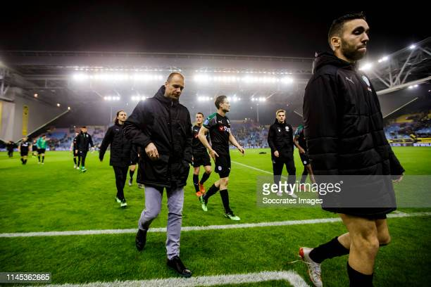 coach Danny Buijs of FC Groningen during the Dutch Eredivisie match between Vitesse v FC Groningen at the GelreDome on May 21 2019 in Arnhem...