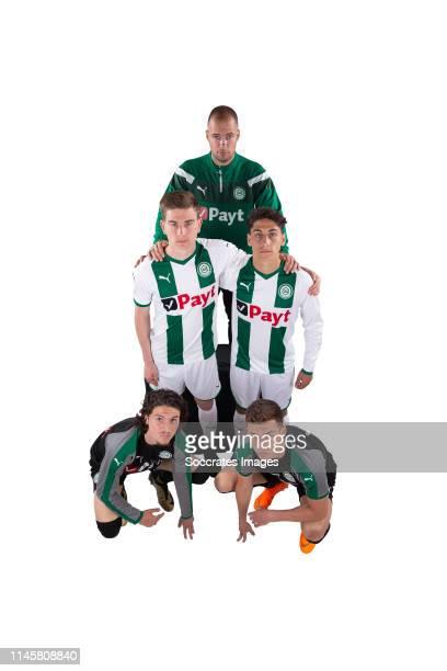 coach Danny Buijs of FC Groningen Tom van de Looi of FC Groningen Amir Absalem of FC Groningen Ajdin Hrustic of FC Groningen Ludovit Reis of FC...