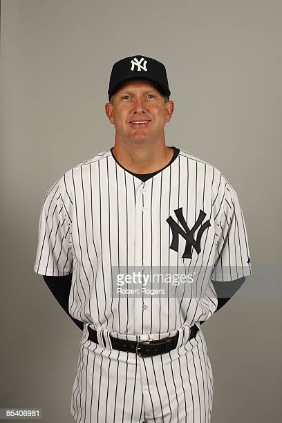 Coach Dave Eiland of the New York Yankees poses during Photo Day on Thursday February 19 2009 at Steinbrenner Field in Tampa Florida