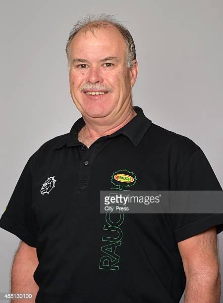 Coach Dave MacQueen of Dornbirner Eishockey Club during the portrait shot on august 22, 2014 in Dornbirn, Austria.