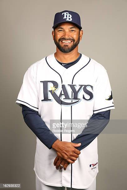 Coach Dave Martinez of the Tampa Bay Rays poses during Photo Day on February 21 2013 at Charlotte Sports Park in Port Charlotte Florida