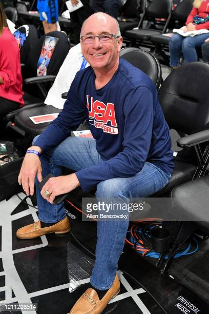 Coach Dave Miller attends a basketball game between the Los Angeles Clippers and the Los Angeles Lakers at Staples Center on March 08 2020 in Los...