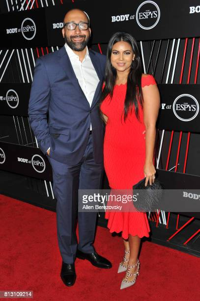 Coach David Fizdale and Natasha SenFizdale attends BODY At The ESPYS PreParty at Avalon Hollywood on July 11 2017 in Los Angeles California