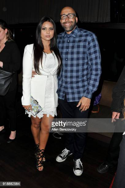 Coach David Fizdale and wife Natasha Sen attend the NBA AllStar Bowling Classic at Lucky Strike LA Live on February 15 2018 in Los Angeles California