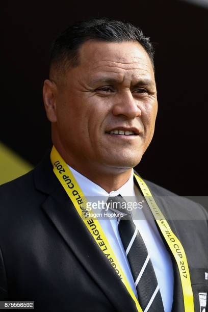 Coach David Kidwell of the Kiwis during the 2017 Rugby League World Cup Quarter Final match between New Zealand and Fiji at Wellington Regional...