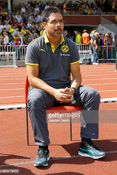 Coach David Wagner of Dortmund during the third league match between Borussia Dortmund II and Jahn Regensburg at Stadion Rote Erde on August 9 2014...