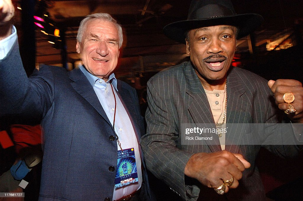 Coach Dean Smith and 'Smoking' Joe Frazier during Jefferson Pilot Presents - The Southern Sports Awards at TABERNACLE in Atlanta, Georgia, United States.