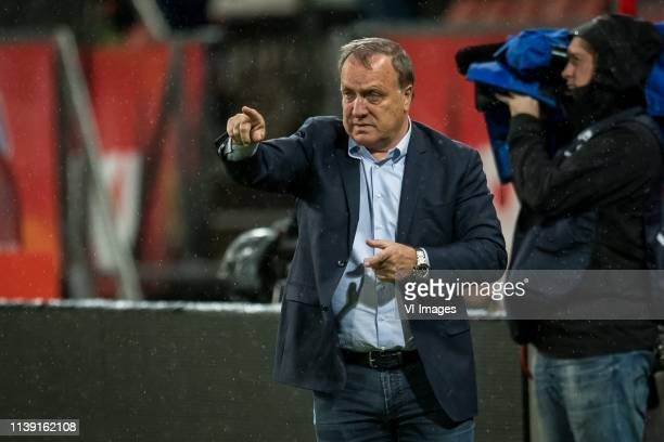 coach Dick Advocaat of FC Utrecht during the Dutch Eredivisie match between FC Utrecht and Fortuna Sittard at the Galgenwaard Stadium on April 24...
