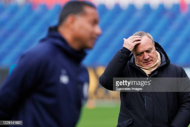Coach Dick Advocaat of Feyenoord during the Dutch Eredivisie match between Feyenoord v Sparta at the Stadium Feijenoord on October 18 2020 in...
